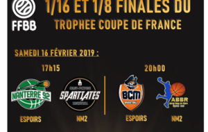 COUPE DE FRANCE : 1/16 et 1/8 de finales